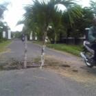 Jalan Desa Taji, Prambanan, Klaten Nyaris Putus