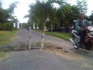 kerusakan jalan desa taji, prambanan klaten