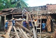 Tujuh Rumah di Manisrenggo Rusak Diterjang Angin