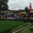 Pasar Cawas Pindah di SPBU karena Banjir