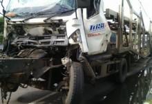 Dua Truk Trailer Terlibat Kecelakaan di Jalur Pantura Kota Tegal