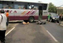 Kecelakaan di Selogiri Bus Seruduk Tiga Motor
